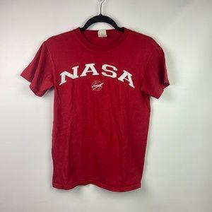 Vintage NASA T Shirt Size Small Unisex Red White